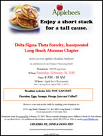 Applebee's Breakfast Fundraiser - Saturday, February 28, 2015